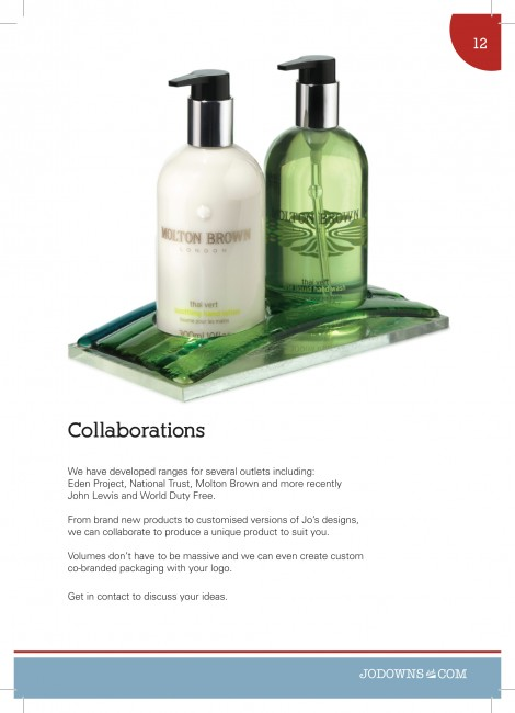 Molton Brown London collaboration A5 Gloss Brochures printed by Solopress for Jo Downs Glass