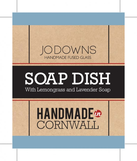 Soap Dish Labels Silk Flyers printed by Solopress for Jo Downs Handmade Glass