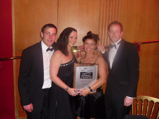 Paul, Emma, Paula and Steve accept our Essex Business Award 2012