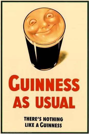 Guinness As Usual classic poster advert