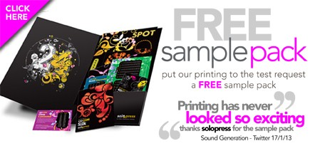 Order your FREE Solopress Printing Sample Pack today