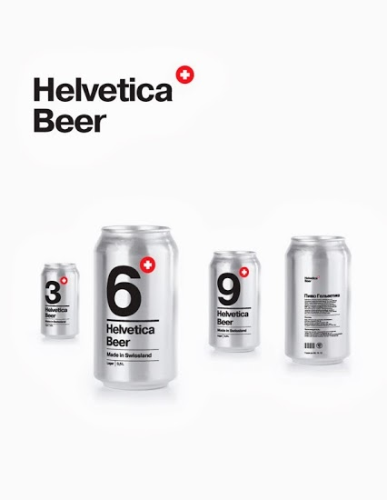 Helvetica beer photo