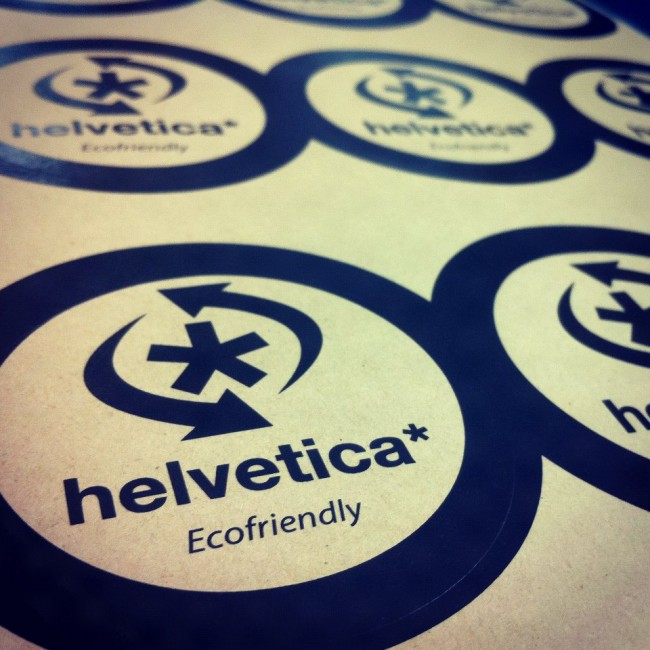 Helvetica cafe packaging