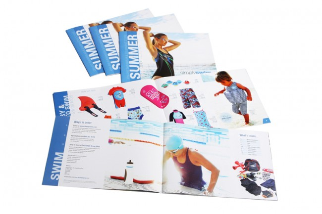 Simply Swim catalogue printed by Solopress