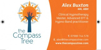 Hypnotherapy cards printed by Solopress - orange and white design