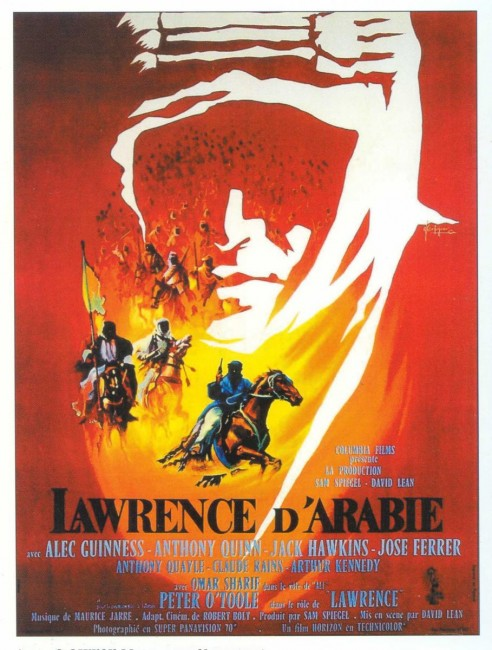 Dark and dramatic Lawrence of Arabia movie poster