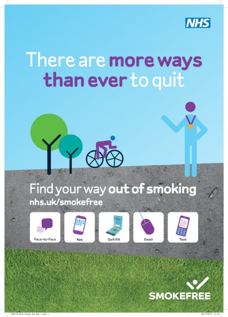 NHS Quit Smoking poster A4