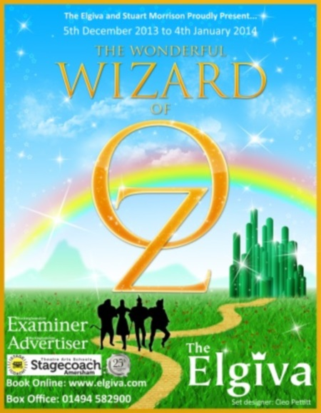 The Wizard of Oz panto poster