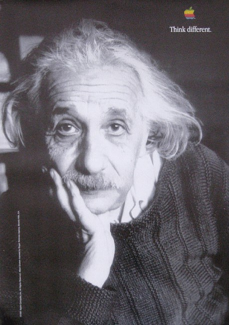 Albert Einstein Think Different poster