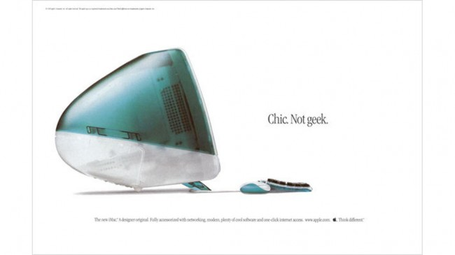 Chic Not geek print advertising