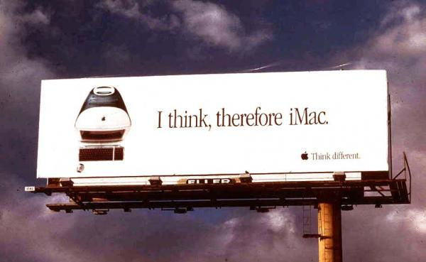 I think therefore iMac billboard ad
