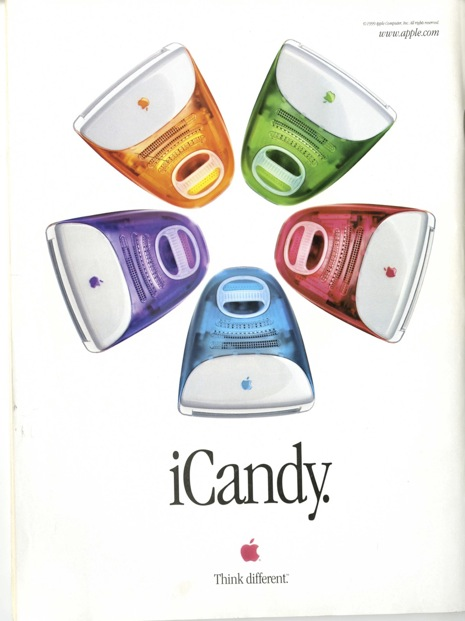 iCandy Apple iMac print ads