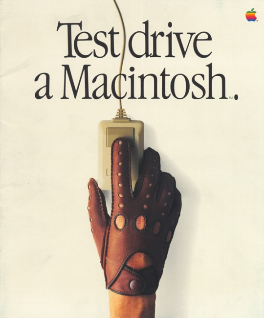 Test drive a Macintosh print ads