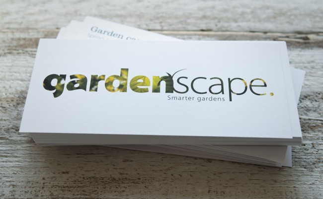 Gardenscape business cards and flyers printed by solopress colourmoves