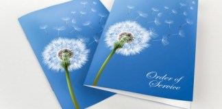 Choose Solopress to print your order of service booklets