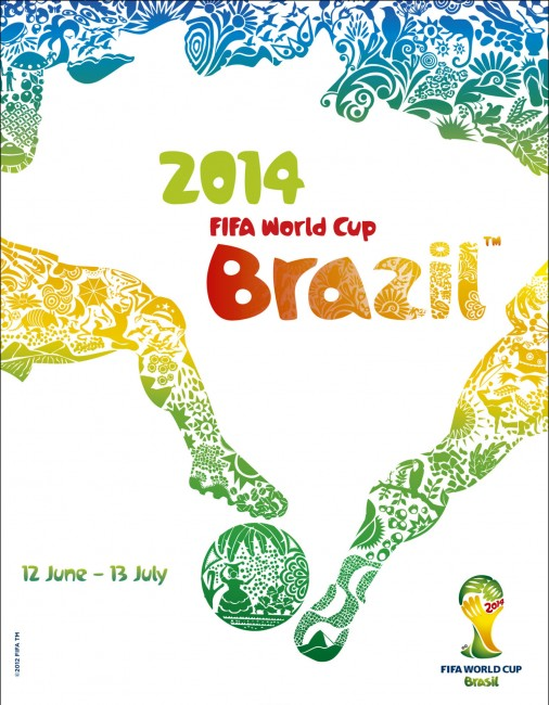 Poster for 2014 FIFA World Cup 2014 in Brazil