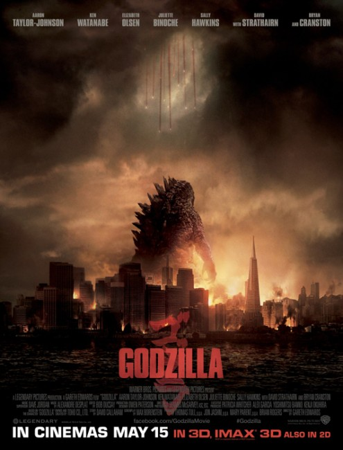 Godzilla 2014 official UK movie poster