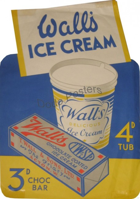 Wall's ice cream vintage poster