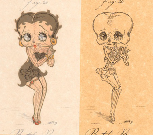 Betty Boop's ugly insides - what her skeleton would really look like
