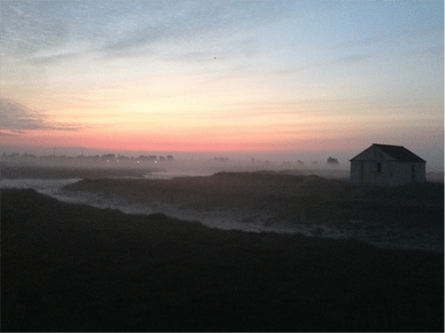 Tried-Tested-Hiking-Boots-Route-Track-Countryside-Sunrise-Beautiful-Photo-Hut-Marshes