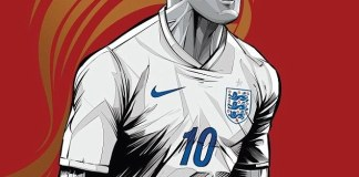 FIFA-World-Cup-2014-Wayne-Rooney-The-Three-Lions-Poster