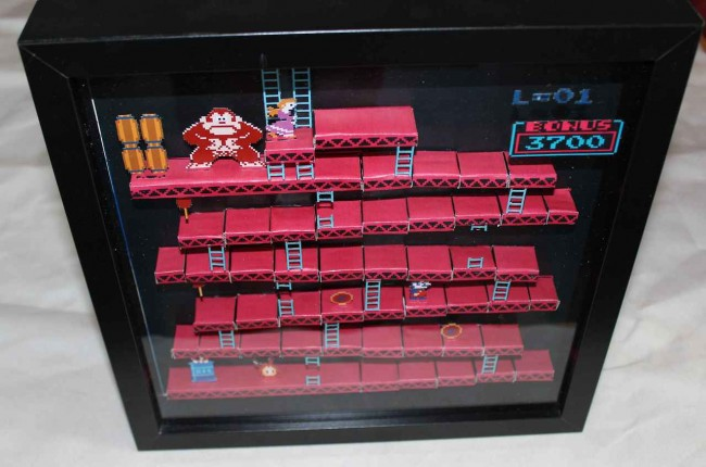 Donkey Kong 3D paper diorama