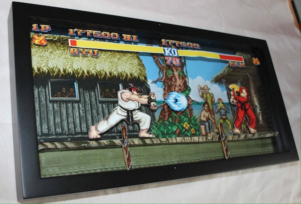 Street Fighter 2 3D paper diorama