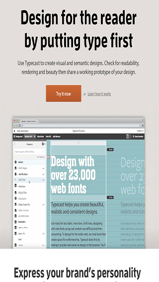web based typography apps