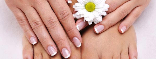 A woman's professionally manicured nails are one of many mobile beauty services available.