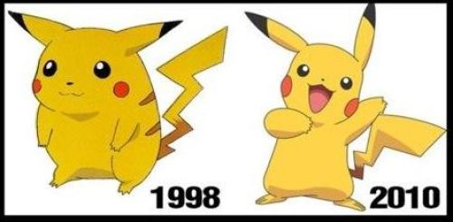 Pikachu then and now a comparison in the skinny Pikachu theory