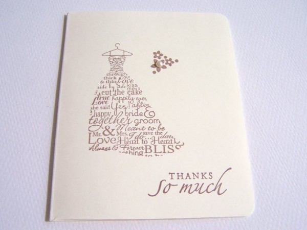 An elegant and simple wedding thank you card