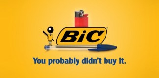 Honest brand slogan for Bic