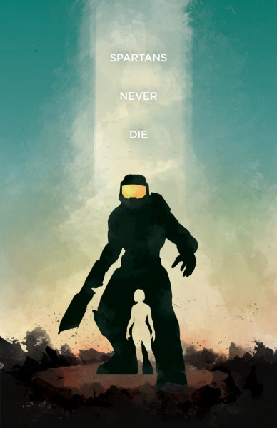Halo poster by Dylan West