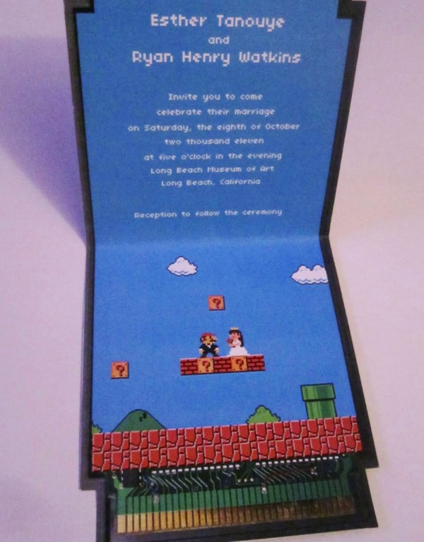 Mario Foldout Invitation