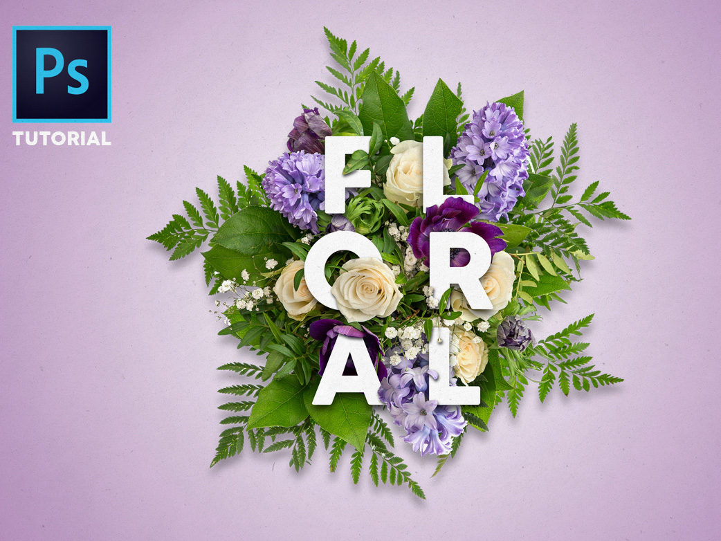 Tutorial create beautiful floral typography with photoshop the spring baditri Images