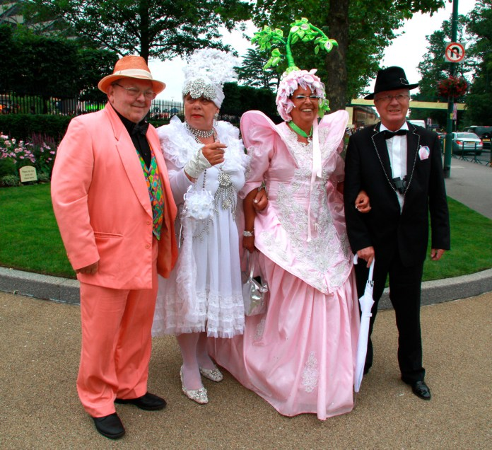 Racegoers attend Ladies Day at the annual Royal Ascot horse racing event. Jun 19, 2014