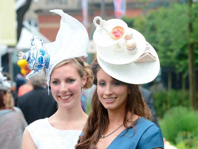Afternoon Tea Royal Ascot hats. June 21, 2012