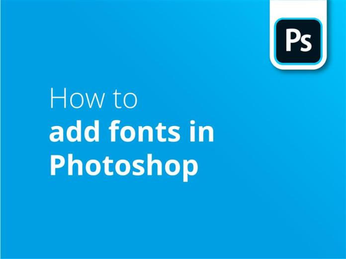 How to add fonts in PS header image