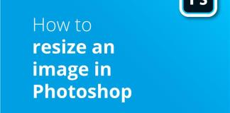 How to resize an image in PS header image