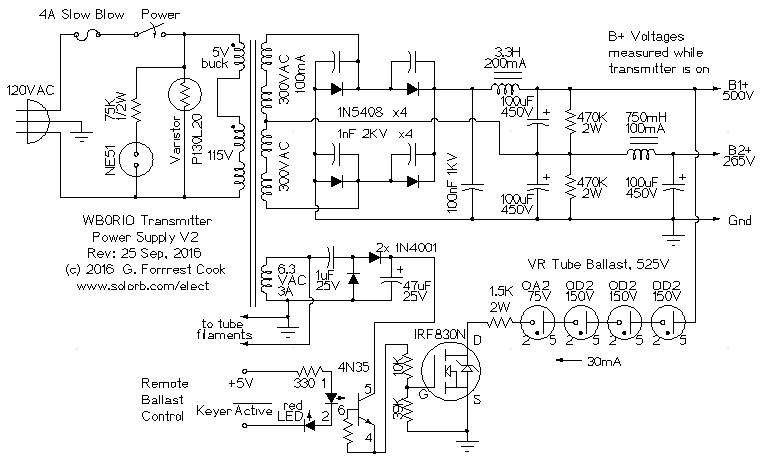 W0RIO Transmitter Power Supply V2