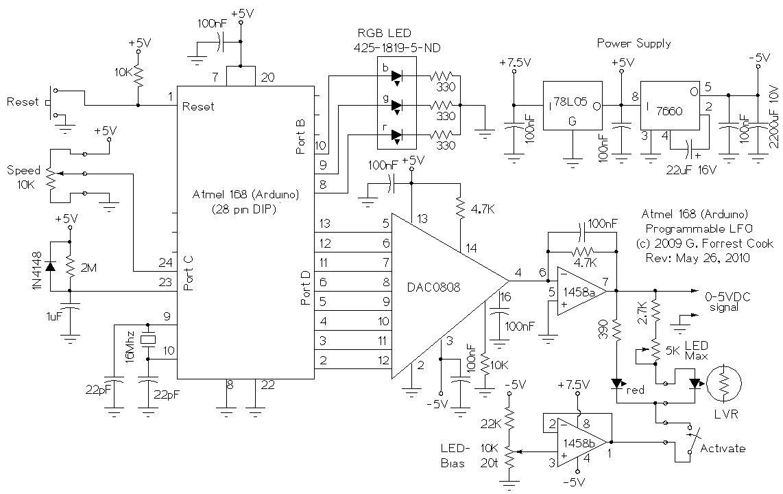 Arduino LFO Waveform Generator V1