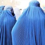 Three Women in Burqas in Kabul, Afghanistan, March 2006