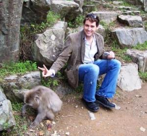 Matt Making Peace at Hell's Valley, Oct. 2004