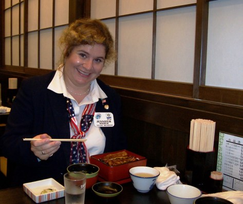 Me Enjoying Unagi in Hamamatsu, Japan