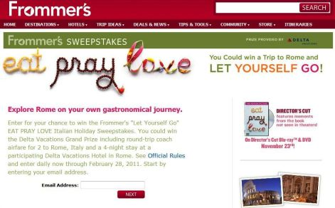Frommer's Rome Contest