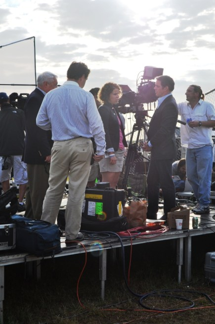 Pia Carusone, Aide for Arizona Congresswoman Gabrielle Giffords, Speaks with Fox's Bill Hemmer, Kennedy Space Center Press Site, May 16, 2011