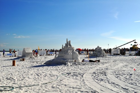 Sand Sculptures on Siesta Key, Now You See Them...