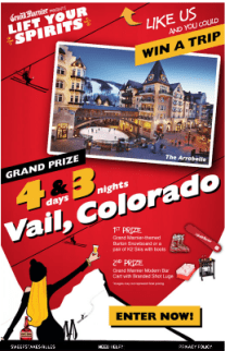 "Grand Marnier Running Contest to ""Lift Your Spirits"" with Vail Ski Trip"