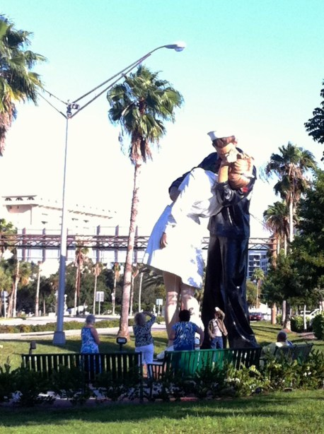 "A WWII Sailor Thought This Nurse Was Kissable... ""Unconditional Surrender"" on the Sarasota Waterfront, October 2011"