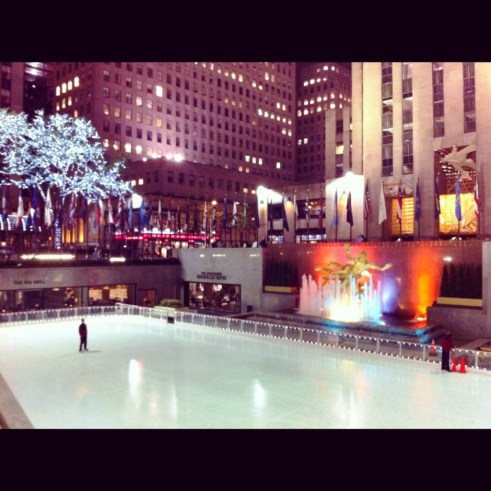 Rockefeller Center Ice Skating Rink, New York City, April 2012